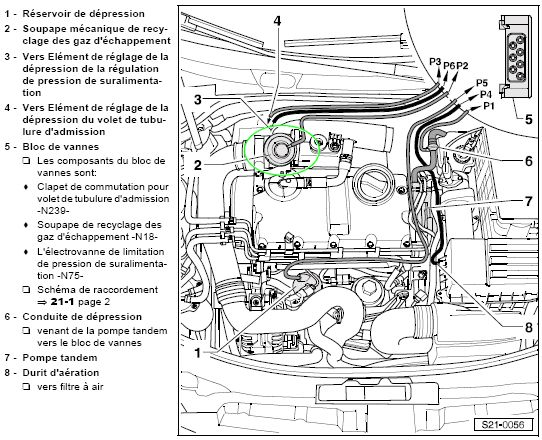 systeme d u0026 39 air de suralimentation  et egr  sur tdi 105cv